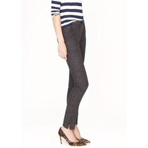 J. Crew Charcoal Gray Skinny Ankle Zip Cargo Pants